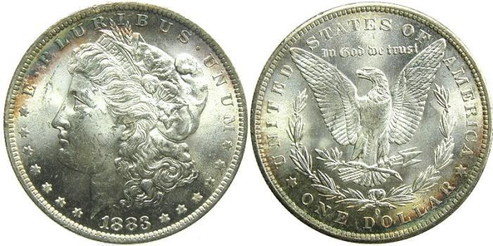 US Coins - UNITED STATES, Morgan Dollar, 1883-O, MS-63.
