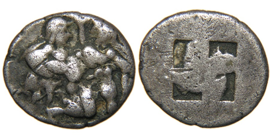 Ancient Coins - ISLANDS OFF THRACE, THASOS, c. 510-490 BC, AR Drachm w/ Sear Certificate.
