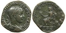 Ancient Coins - GORDIAN III, AD 238-244, AE Sestertius, Apollo.