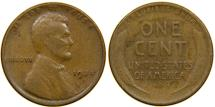 Us Coins - UNITED STATES, 1924-D Lincoln Cent, Fine.
