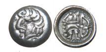 "Ancient Coins - SOGDIANA, SAMARKAND, c. 4th-5th Century AD, Scyphate AR ""Obol"", Archer."