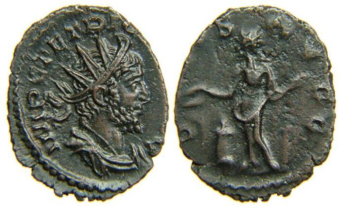 Ancient Coins - TETRICUS I, AD 271-274, AE Antoninianus, SALVS AVGG, Cologne. Ex Beachy Head Hoard.