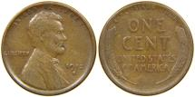 Us Coins - UNITED STATES, 1912-S Lincoln Cent, Fine.