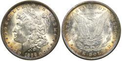 Us Coins - UNITED STATES, 1888 Morgan Dollar, VAM-11 (Top 100), Beautifully Toned MS64.