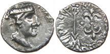 INDO-SCYTHIANS, KSHAHARATAS, Nahapana, c. AD 119-124, AR Drachm.