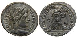 "Ancient Coins - CONSTANTINE I, ""The Great"", AD 307-337, AE3, SARMATIA DEVICTA, Lyons, RIC 214."