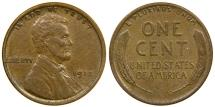 Us Coins - UNITED STATES, 1915 Lincoln Cent, Choice EF.