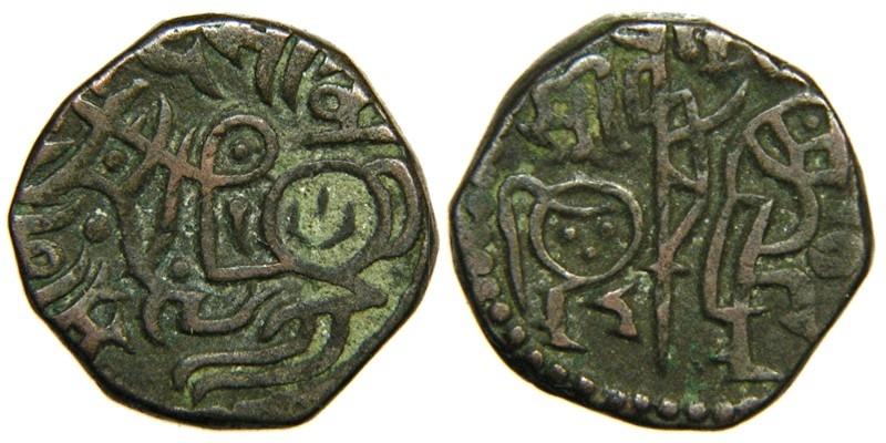 World Coins - ISLAMIC, GHORIDS, Muhammad b. Sam, 1171-1206, AE Jital, Dehli Type.