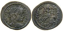 "Ancient Coins - CONSTANTINE I, ""The Great"", AD 307-337, AE3, SARMATIA DEVICTA, Lugdunum, RIC 222 (R1)."