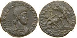 Ancient Coins - CONSTANTIUS GALLUS, AD 351-354, AE2, FTR Fallen Horseman, Siscia, RIC 346.