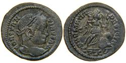 "Ancient Coins - CONSTANTINE I, ""The Great"", AD 307-337, AE3, SARMATIA DEVICTA, Lyons, RIC 222 (R1)."