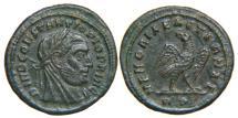 Ancient Coins - DIVUS CONSTANTIUS I, d. AD 306, AE ¼ Follis, RIC 111 (R2). Ex UBS 1998, Ex J. Schulman 1917.