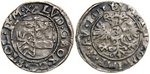 World Coins - GERMANY, STOLBERG-ORTENBERG, Ludwig Georg, AR 3 Groschen, 1613.