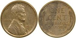 Us Coins - UNITED STATES, 1916-S Lincoln Cent, AU.