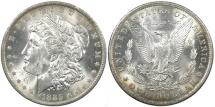 Us Coins - UNITED STATES, 1885-O Morgan Dollar, Choice Toned UNC.