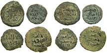 World Coins - ISLAMIC, UMAYYAD & 'ABBASID, 8th Century, Lot of 4 AE Fals from the J.S. Wagner Collection