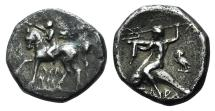 Ancient Coins - ITALY, Southern Apulia, Tarentum, c. 272-240 BC. AR Nomos