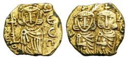 Ancient Coins - Constantine V (741-775). Plated Solidus