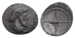Ancient Coins - Sicily, Himera(?), c. 483-472 BC. AR Hemilitron