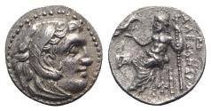 Ancient Coins - Kings of Macedon, Antigonos I Monophthalmos (Strategos of Asia, 320-306/5 BC, or king, 306/5-301 BC). AR Drachm. In the name and types of Alexander III. Magnesia ad Maeandrum