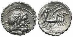 Ancient Coins - Q. Antonius Balbus, Rome, 83-82 BC. AR Serrate Denarius