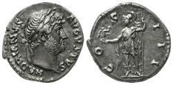 Ancient Coins - Hadrian (117-138). AR Denarius