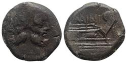 Ancient Coins - C. Maianius, Rome, 153 BC. Æ As