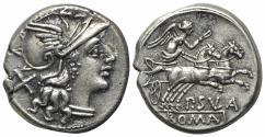 Ancient Coins - Pub. Sulla, Rome, 151 BC. AR Denarius