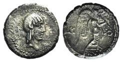 Ancient Coins - L. Calpurnius Piso Frugi, Rome, 90 BC. AR Quinarius