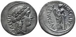 Ancient Coins - Roman Imperatorial, Man. Acilius Glabrio, Rome, 49 BC. AR Denarius