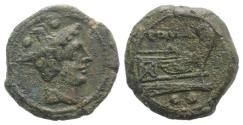 Ancient Coins - Anonymous, Sardinia, after 211 BC. Æ Sextans