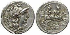Ancient Coins - Q. Marcius Libo, Rome, 148 BC. AR Denarius