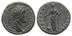 Ancient Coins - Antoninus Pius (138-161). Æ Dupondius. Rome, 155-6. R/ Providentia