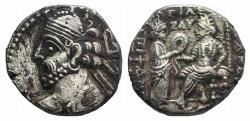Ancient Coins - Kings of Parthia, Vologases III (c. AD 105-147). BI Tetradrachm EX Simonetta Collection