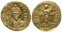 Ancient Coins - Phocas (602-610). GOLD Solidus. Constantinople, 607-9. R/ Angel