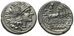 Ancient Coins - L. Antestius Gragulus, Rome, 136 BC. AR Denarius