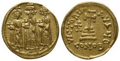 Ancient Coins - Heraclius (610-641). AV Solidus. Constantinople, 638/9-641.