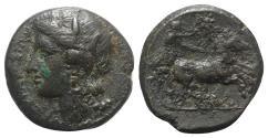 Ancient Coins - Sicily, Syracuse. Hiketas II (287-278 BC). Æ 23mm