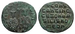 Ancient Coins - Constantine VII and Zoe (913-959). Æ 40 Nummi