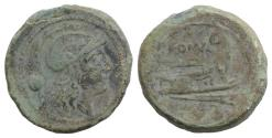 Ancient Coins - Anonymous, Rome, c. 215-212 BC. Æ Uncia