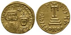 Ancient Coins - Constans II (641-668) GOLD Solidus,Constantinople, AD 654-59.