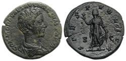 Ancient Coins - Commodus (Caesar, 166-177). Æ As. Rome, 175-6.  R/ Spes