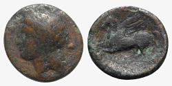 Ancient Coins - Sicily, Syracuse, 344-317 BC. Æ 18mm