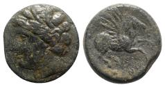Ancient Coins - Sicily, Syracuse. Hieron II (274-216 BC). Æ 22mm