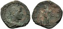Ancient Coins - Trebonianus Gallus (251-253), Sestertius, Rome, AD 251-253