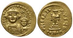 Ancient Coins - Heraclius and Heraclius Constantine (610-641). AV Solidus. Constantinople, 613-6.