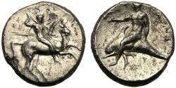 Ancient Coins - Apulia, Nomos, Tarentum, c. 302-280 BC