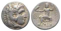 Ancient Coins - Kings of Macedon, Demetrios I Poliorketes (306-283 BC). AR Drachm. In the name and types of Alexander III. Miletos, c. 295/4 BC.
