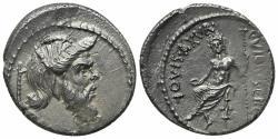 Ancient Coins - Roman Imperatorial, C. Vibius C.f. C.n. Pansa Caetronianus, Rome, 48 BC. AR Denarius