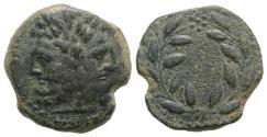 Ancient Coins - Sicily, Uncertain Roman mint, late 2nd century BC. Æ 22mm